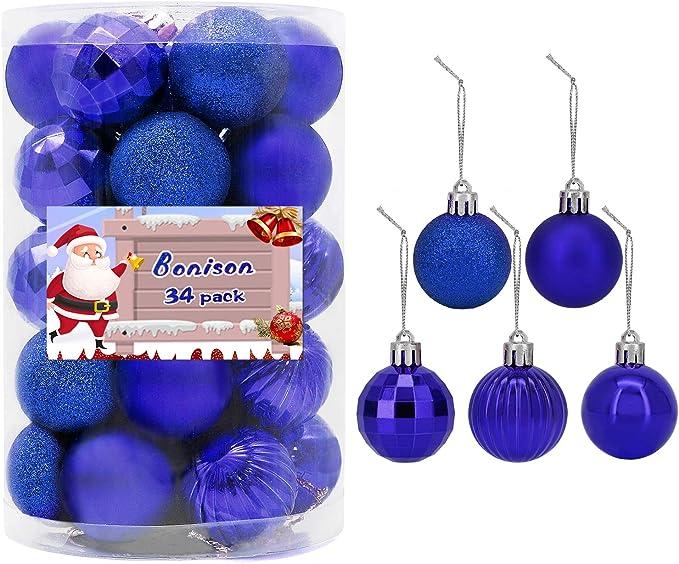 34pcs Christmas Balls Shopping Mall Ceiling Window Hanging Ball Ornament