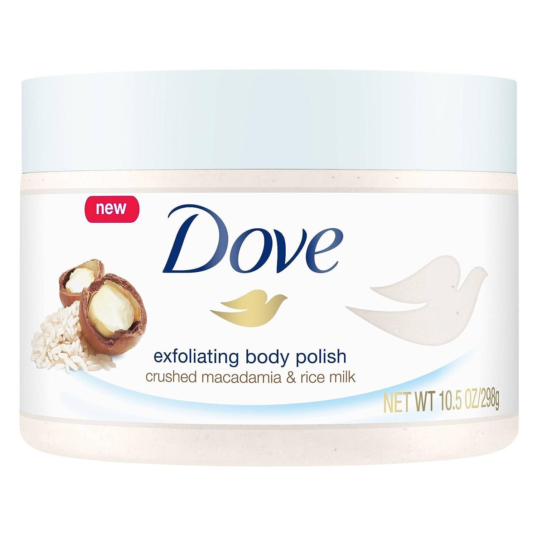 Dove Body Polish Crushed Macadamia and Rice Milk, pack of 1