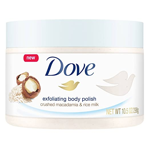 Dove Body Polish Crushed Macadamia and Rice Milk, pack of 1