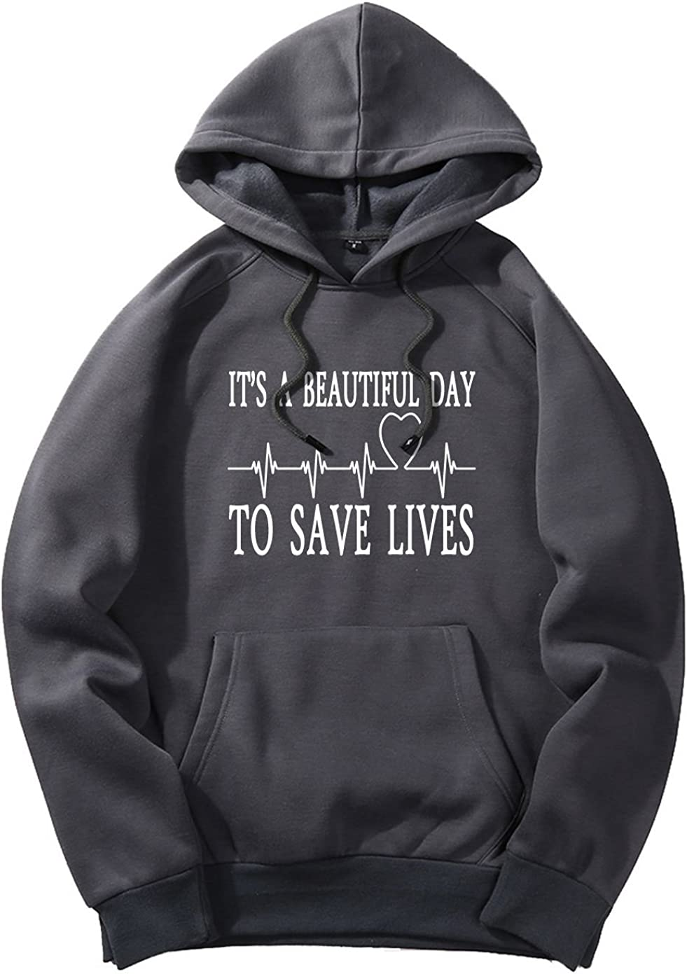 xueshankeji Its A Beautiful Day To Save Lives Fashion Hoodie Sweater For Mens Dark Gray XXL
