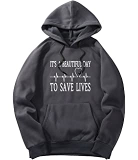 xueshankeji Its A Beautiful Day To Save Lives Fashion Hoodie Sweater For Mens Khaki XXL