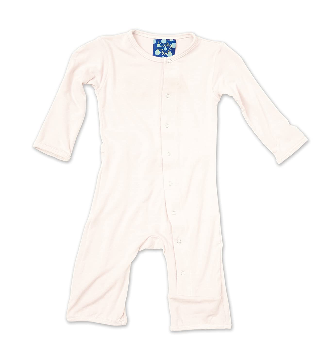 KicKee Pants Bamboo Basic Coverall with Snaps Natural - 3-6 Months