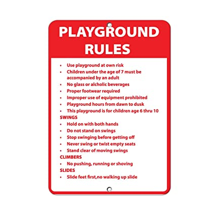 amazon com playground rules use playground at own risk activity