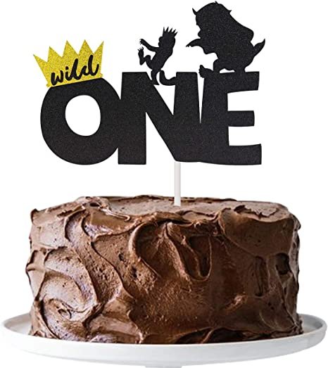 Enjoyable Amazon Com Joymee Wild One Cake Topper Kids Boy Or Girl 1St First Funny Birthday Cards Online Alyptdamsfinfo
