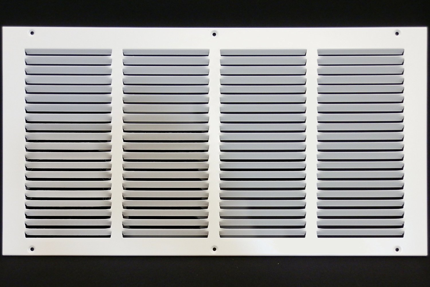20''w X 8''h Steel Return Air Grilles - Sidewall and Cieling - HVAC DUCT COVER - White [Outer Dimensions: 21.75''w X 9.75''h]