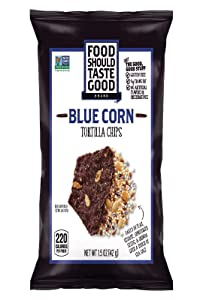 FOOD SHOULD TASTE GOOD Tortilla Chips Blue Corn, 1.5 Ounce