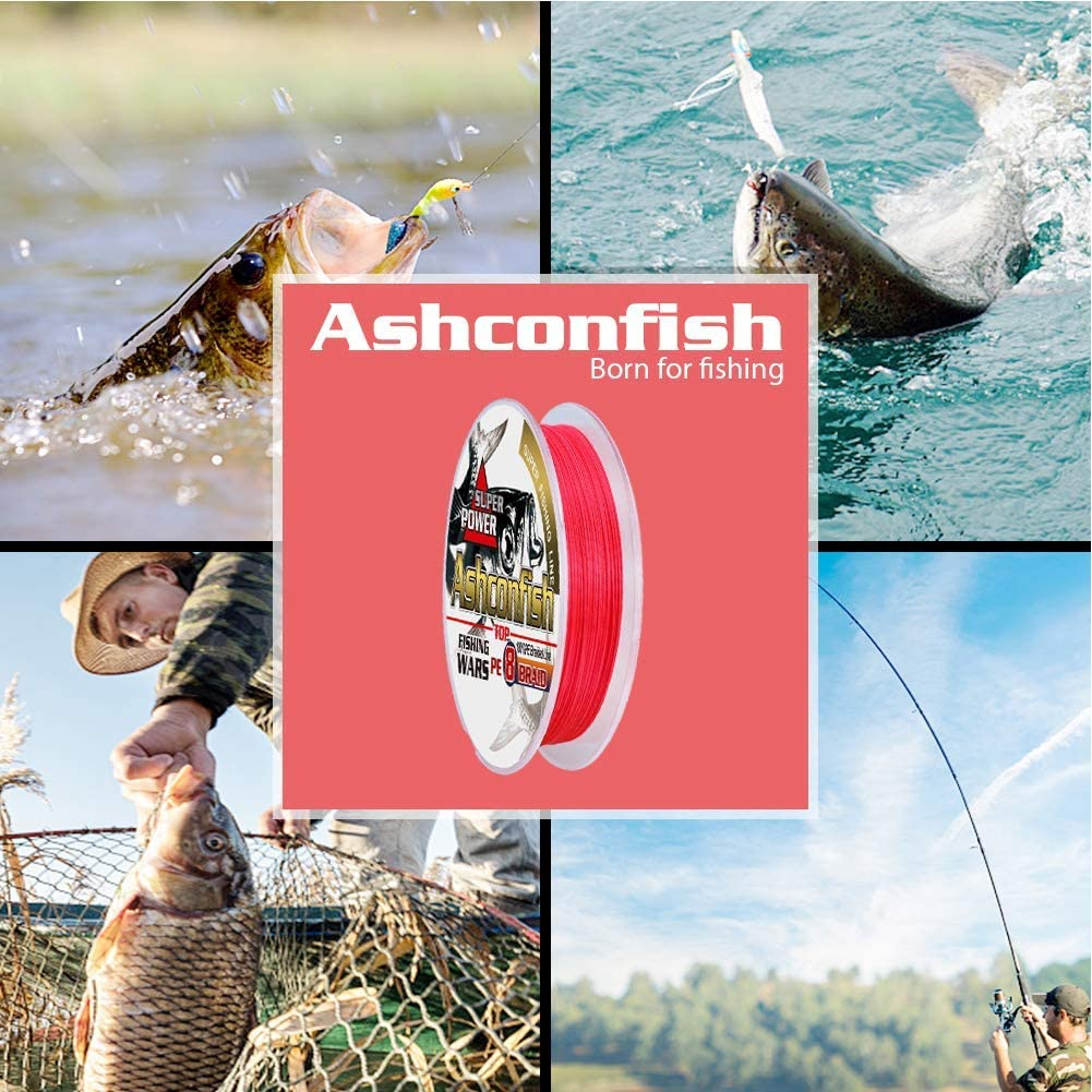 6lb 8lb 10lb 12lb 15lb Red 300lb Abrasion Resistance Braided Fishing Lines 100M Ashconfish Fishing Line Real Color Fastness Ultra-strong Sea Fishing Wire 2000M 4 Strands /& 8 Strands