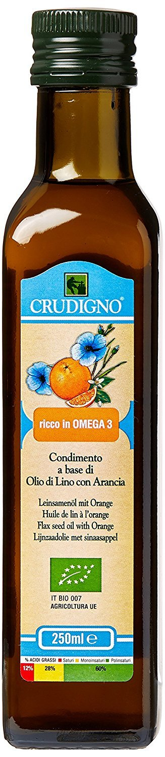 Crudigno Cold Pressed Flax Seed Oil With Orange 250ml by Curdigno