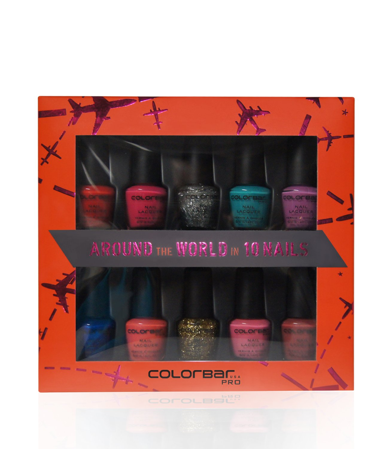 Buy Colorbar Nail Kit Around The World In 10 Nails Online at Low ...