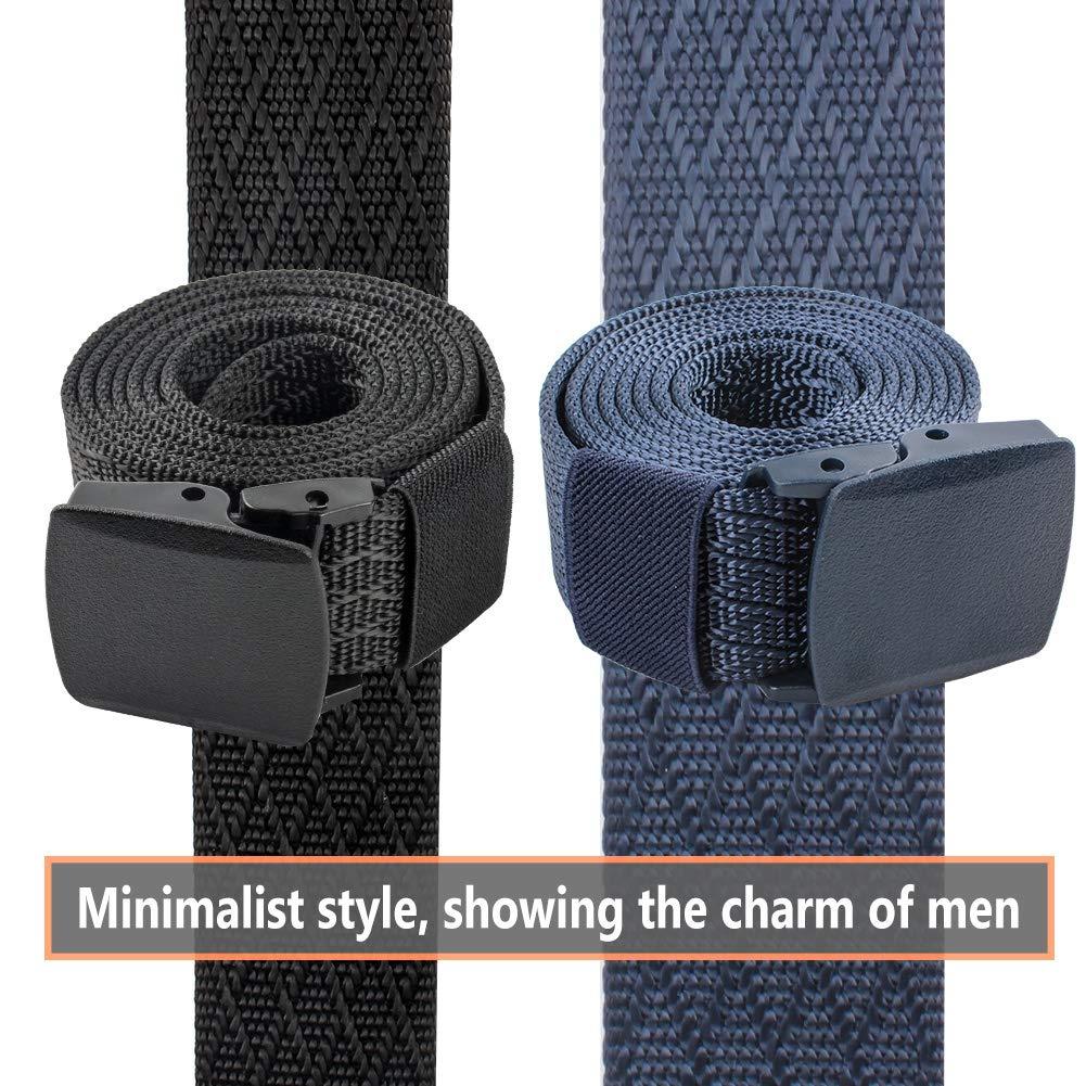 Lalacolorful 2 Pack Cinturón de Nylon Cinturón de Cinturón Táctico para Hombre Cinturón de Cinturón de Cinturón de Cinturón de Correa Militar ...
