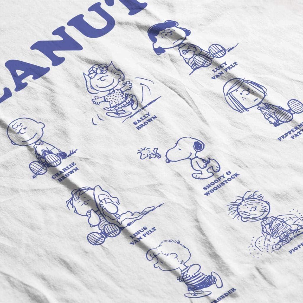 Peanuts Character Sketches Mens Hooded Sweatshirt