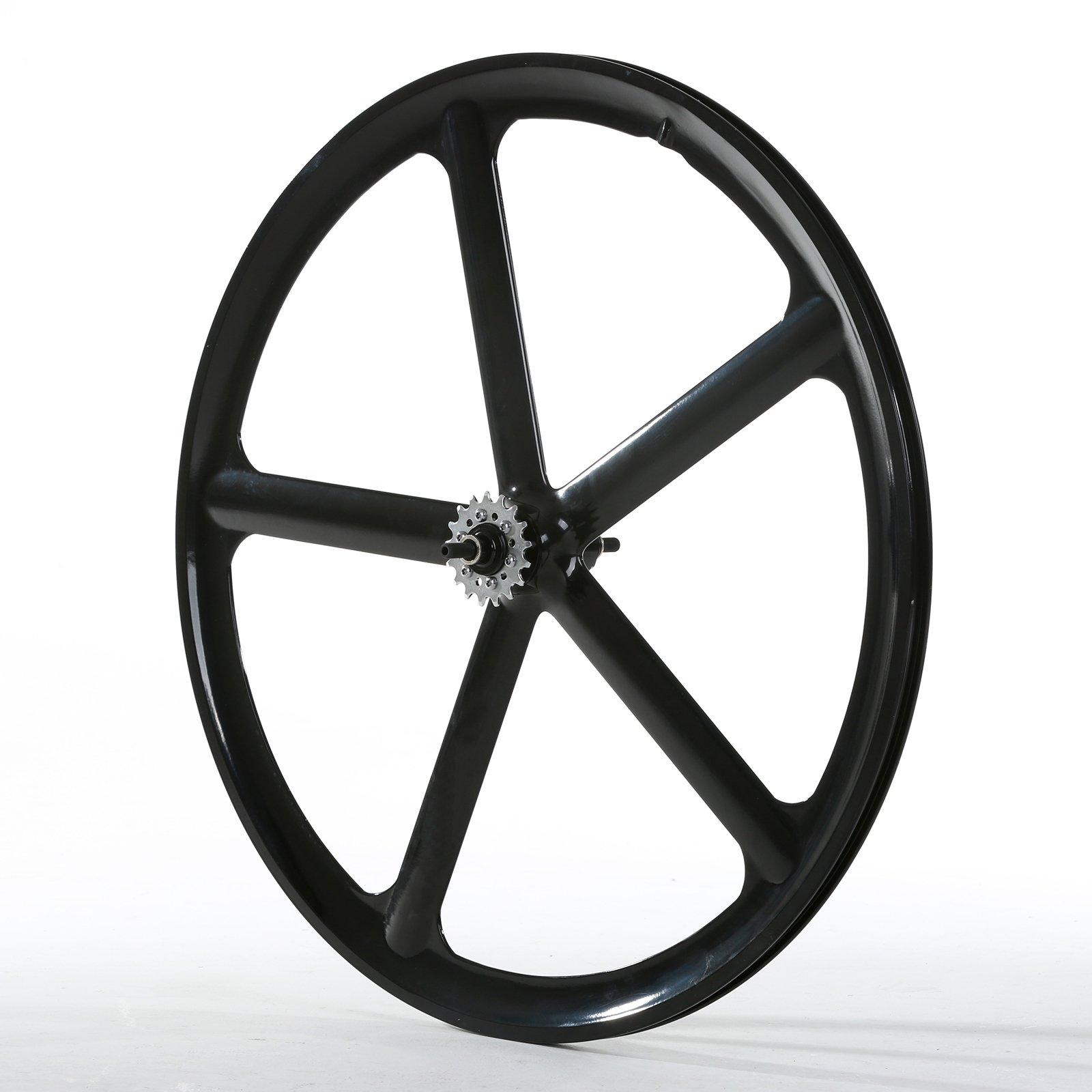 Solomone Cavalli 700c 5 Spoke All-in-one Rear Bicycle Wheel for Fixie Fixed Gear Road Single Speed by Solomone Cavalli