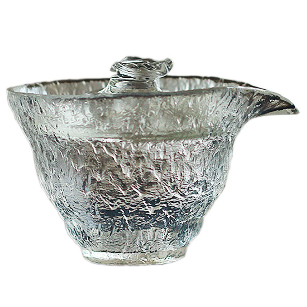 Never King Crystal Gaiwan Chinese/Japanese Glass Gaiwan Traditional Tea Cup Comprised of Cup and Lid Tureen 220 ml