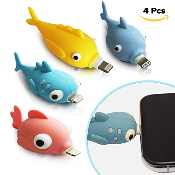 buy popular a28f0 e6a03 Amazon.com: Dudu Fish Cable Buddies-Animal Bite Cable Protector ...
