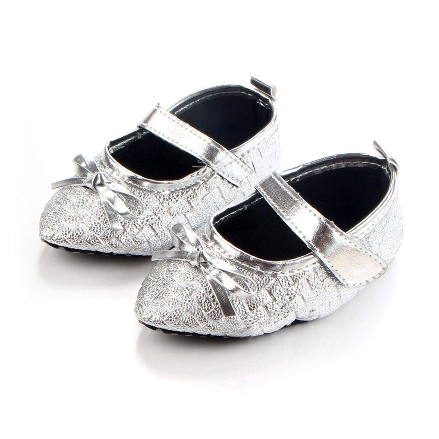 0-16M Baby Infant Kid Girl Shoes Gold Soft Sole Shoes Pointed Toe Toddler Bowknot Princess Girl Shoes