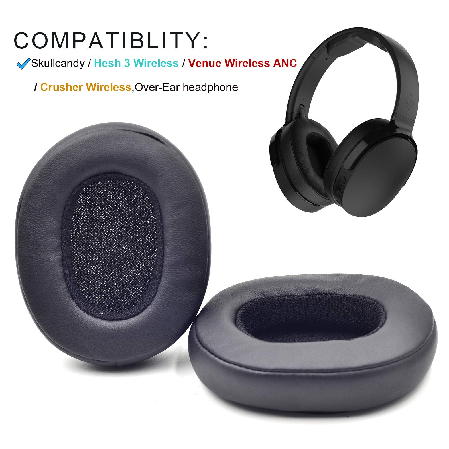 Almohadillas Auriculares SKULLCANDY CRUSHER WIRELESS HES -L3