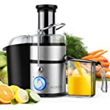 "KOIOS Centrifugal Juicer Machines, Juice Extractor with Big Mouth 3"" Feed Chute, 304 Stainless-steel Fliter, Best Seller Juic"