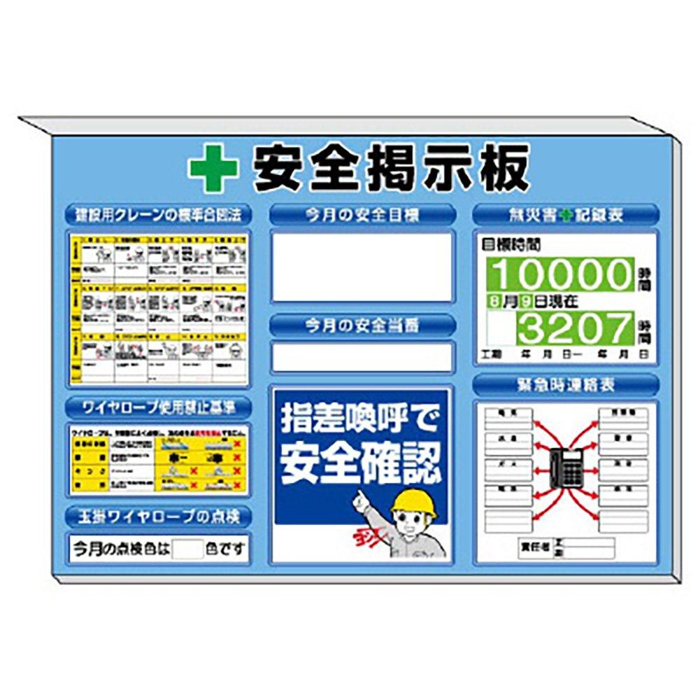 【313-89B】ミニ掲示板 クレーン合図法他入 青地 B071LPKWMF