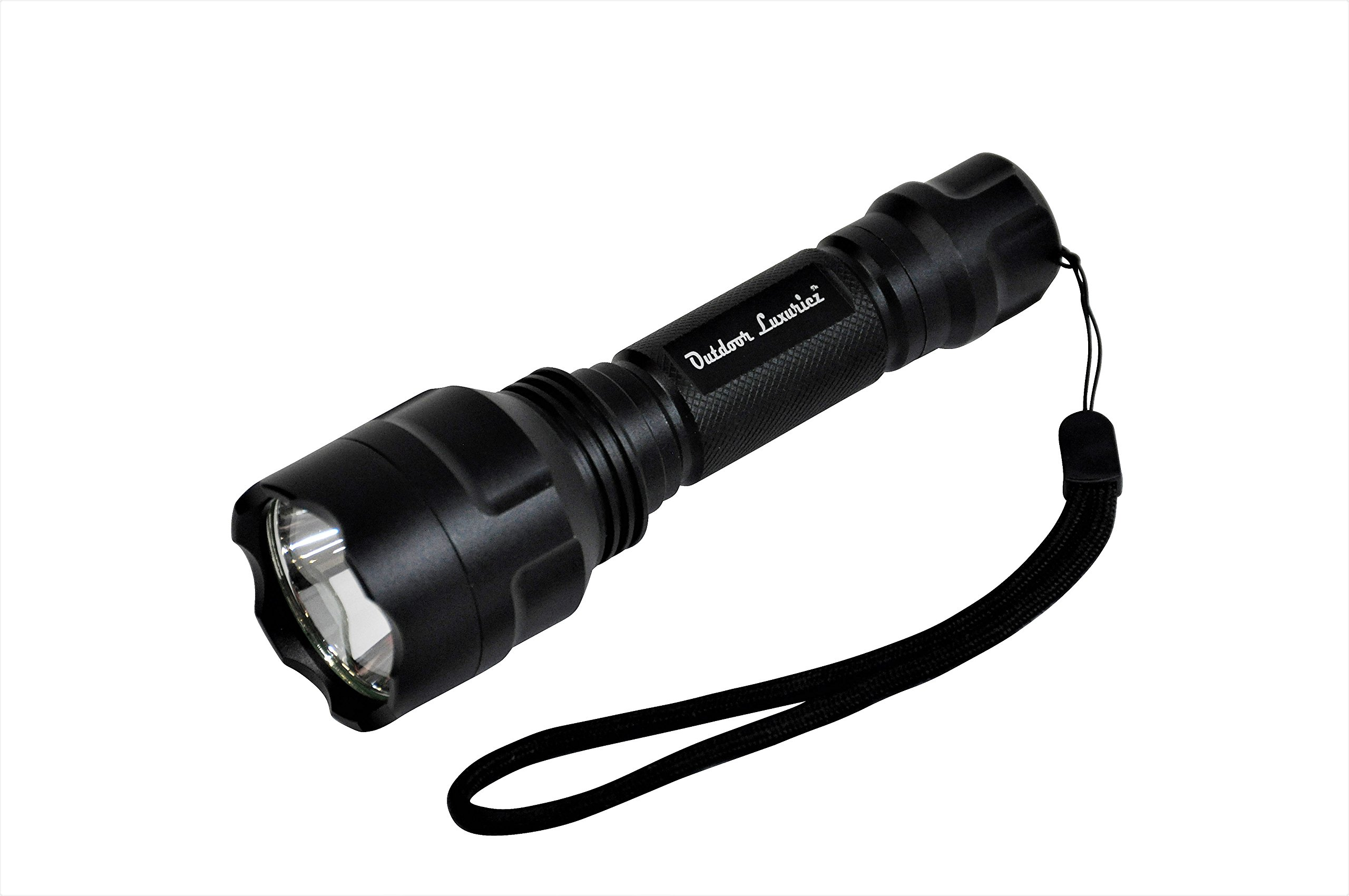 Military Grade Tactical Defense Camping Emergency - Compact IP68 Waterproof High Lumen Rechargeable Handheld LED Flashlight - Outdoor Luxuriez