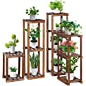 4-Piece Tooca Wood Plant Stand Indoor Set