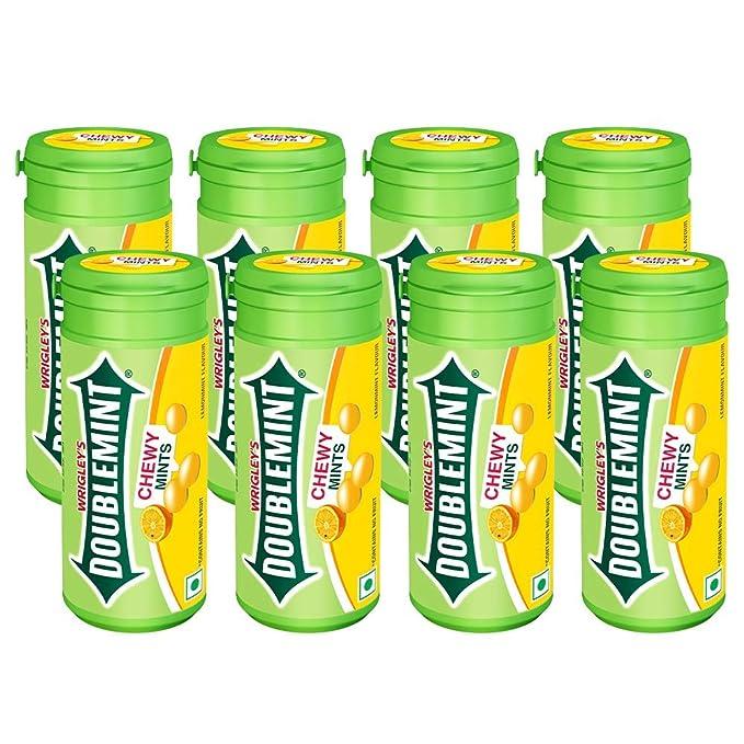 DOUBLEMINT Lemon Chewymint Tube Pack,8 x268g