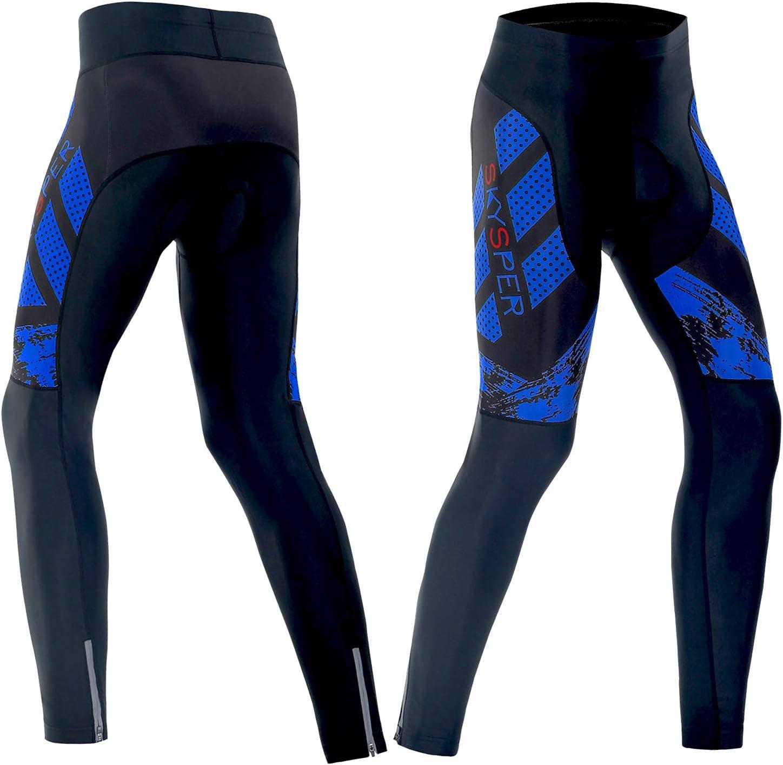 SKYSPER Mens Cycling Trousers 3D Gel Padded Bike Pants Bicyle Tights Cycle Legging