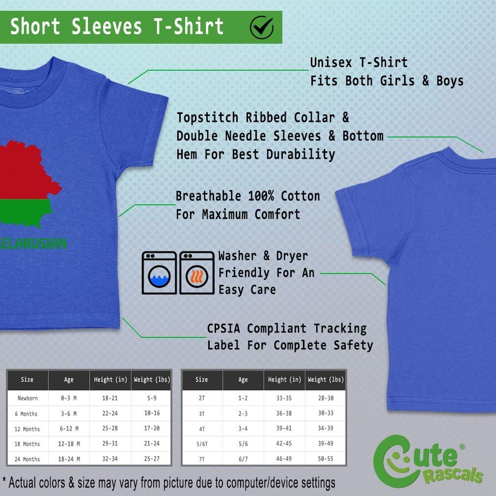 Custom Baby /& Toddler T-Shirt Little Belarusian Cotton Boy Girl Clothes