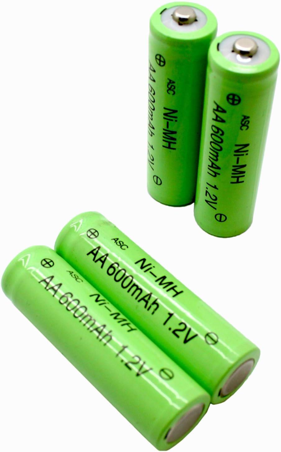 Pack of 8 RELIGHTABLE Solar Light AA Ni-CD 600mAh 1.2V Rechargable Batteries