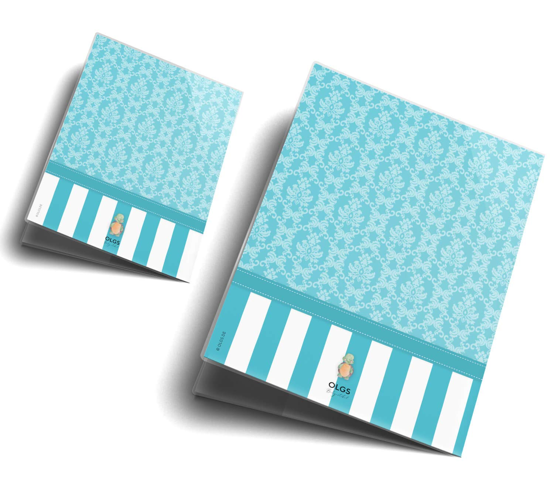 U-Heft H/ülle 3-teilig Set Blue Nature Untersuchungsheft H/ülle /& Impfpassh/ülle sch/öne Geschenkidee U-Heft Set 3-teilig ohne Personalisierung, Schildkr/öte