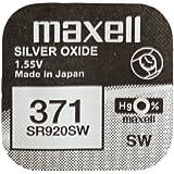 One (1) X 0% Mercury Maxell 371 SR920SW SB-AN óxido de plata pila de botón para reloj 1,55 V