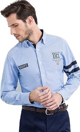 Pedro del Hierro Camisa Hombre Big Logo Cintas Azul T-SP Azul ...