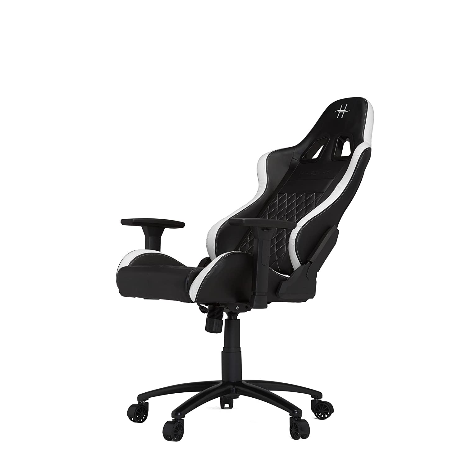 Amazon.com: HHGears XL 500 Series PC Gaming Racing Chair Black and White with Headrest/Lumbar Pillows: Kitchen & Dining