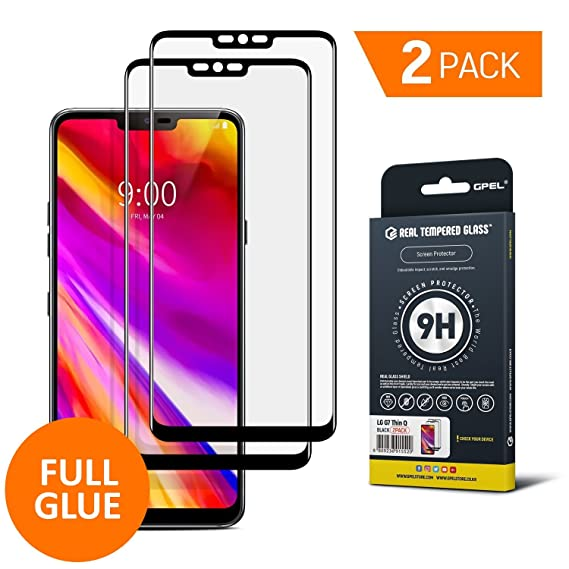 brand new 36657 b899f GPEL Screen Protector for LG G7 ThinQ Full Glue Case Friendly Work with  Most Case Premium Japanese Asahi Real Tempered Glass HD Clear Easy ...