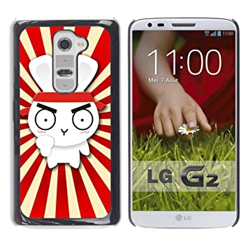 For LG G2 - Design Cute Rabbit Ninja Samurai /Caja ...