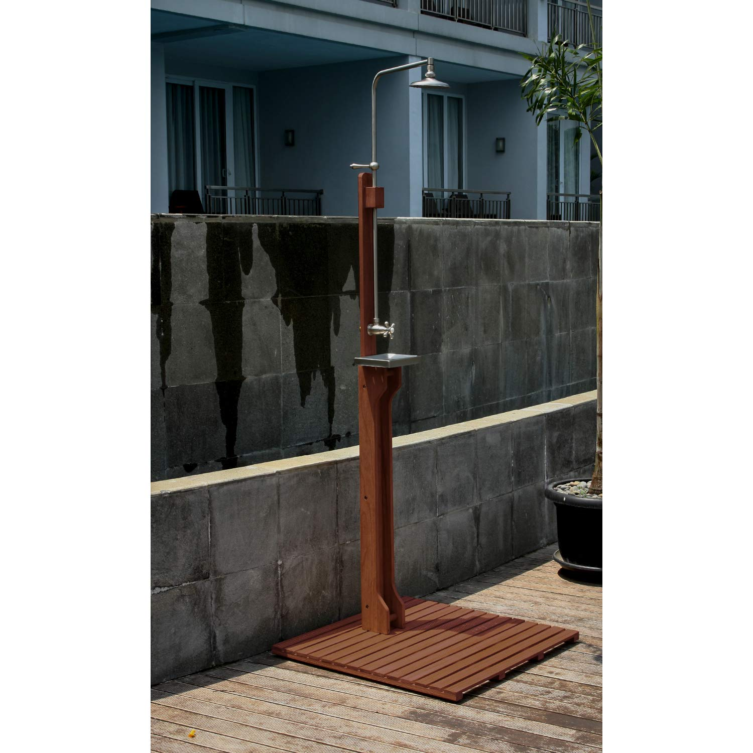 Cambridge-Casual 590073 Willow Wooden Outdoor Shower Weathered