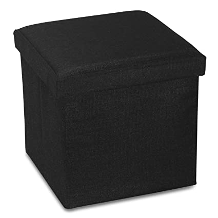 RONSTA Storage Ottoman, Foldable Cube Ottoman Storage Kids, Foot Rest,  Cloth Foot Stools