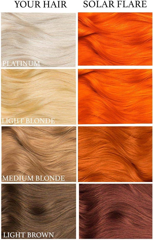 Solar Flare, tinte semi permanente para el cabello naranja - 118 ml - Lunar Tides