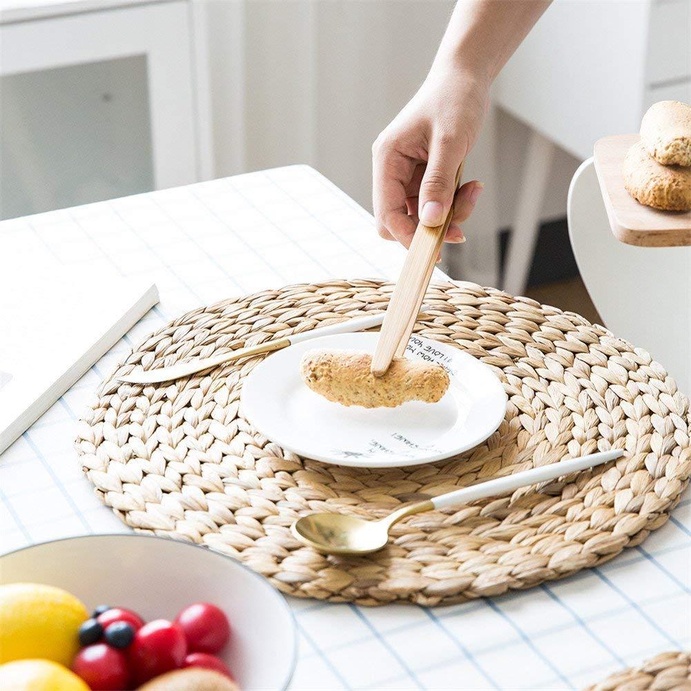 Fablcrew Lot de 2 Pi/èces Pince /à Toasts Pince /à Pain Grill/é Pince de Cuisine en Bambou pour Grille-Pains Baguettes 18CM