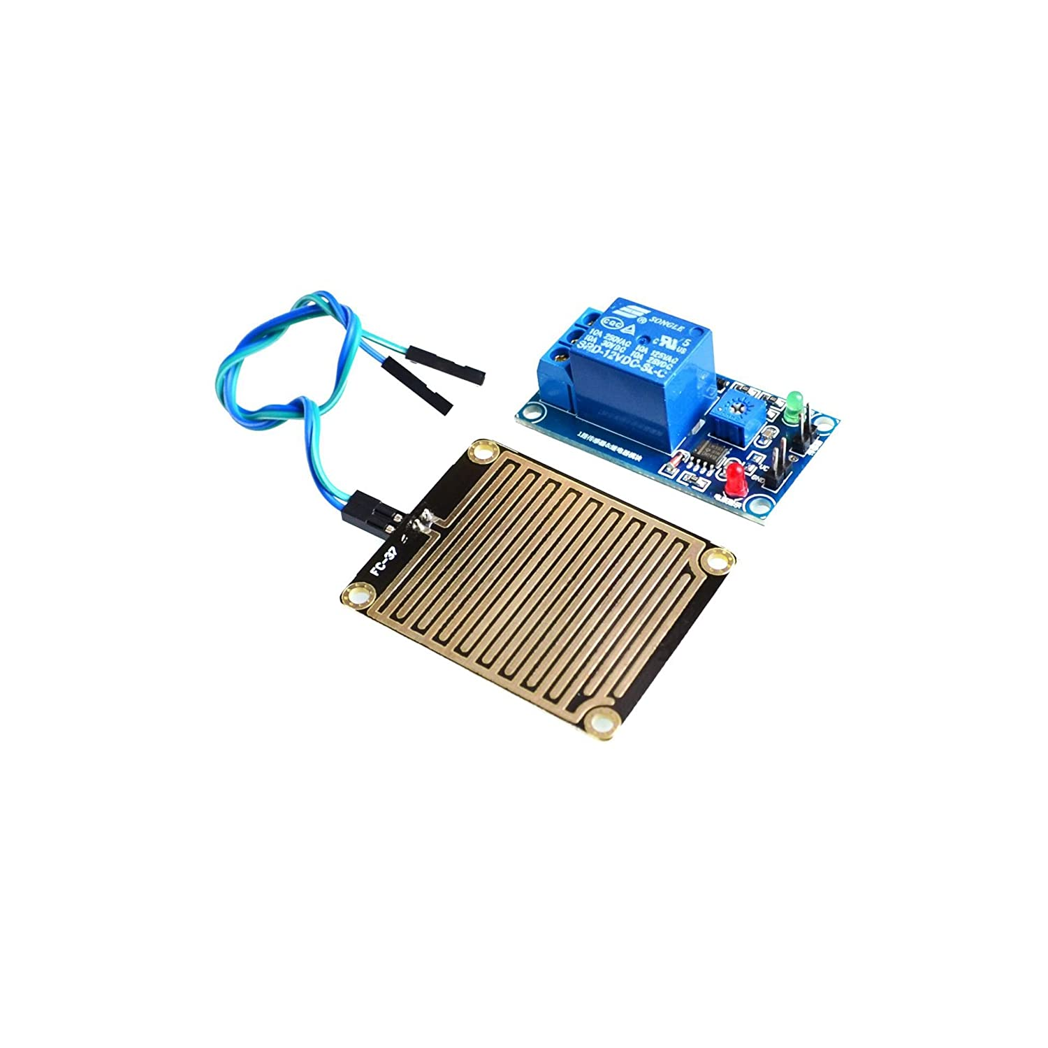 Lysignal 12V Raindrop Controller Module Raindrop Sensor Module With Relay for Arduino LYCHEE LIMITED