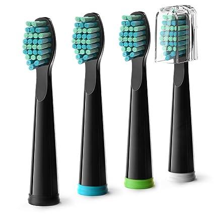 Gloridea cabezales de recambio para cepillo eléctrico - para los modelos 507B, Pack de 4