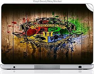 "Laptop VINYL DECAL Sticker Skin Print Wizard House fits 15.6"" HP Pavilion (15-d038dx)"