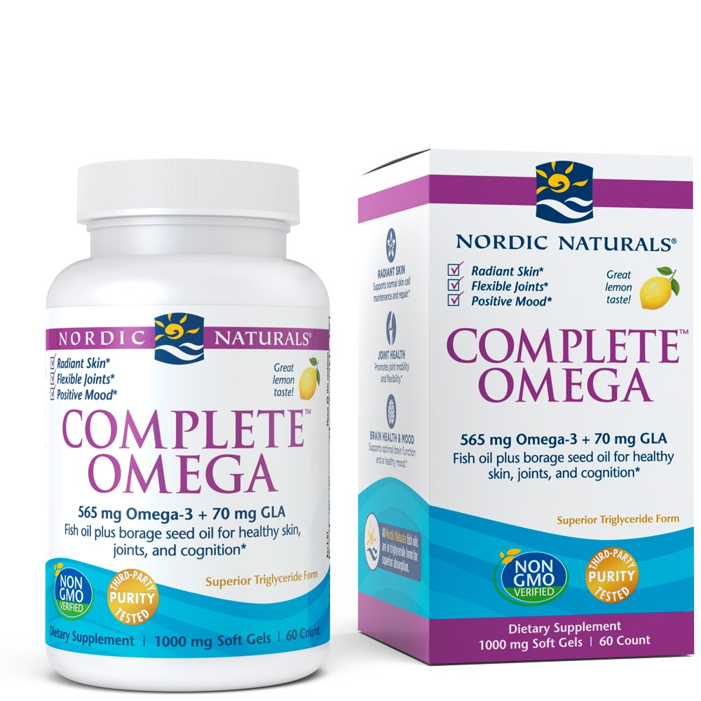 Nordic Naturals - Complete Omega, Supports Healthy Skin, Joints, and Cognition, 60 Soft Gels