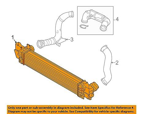 Original de BMW F45 F65 Intercooler Turbo cargador de refrigerador de aire OEM 17517617600