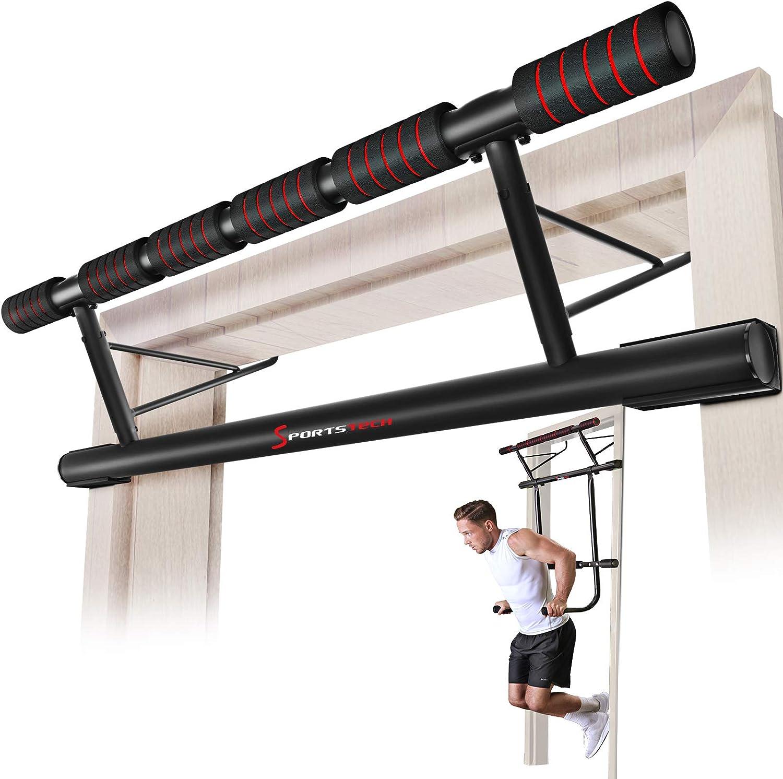 sportstech ocasión única. barra 4in1 inclusive Dip Bar & Power Ropes, procesados por Puerto Plegable KS500, montaje Seguro para Casa Sin Tornillos, ...