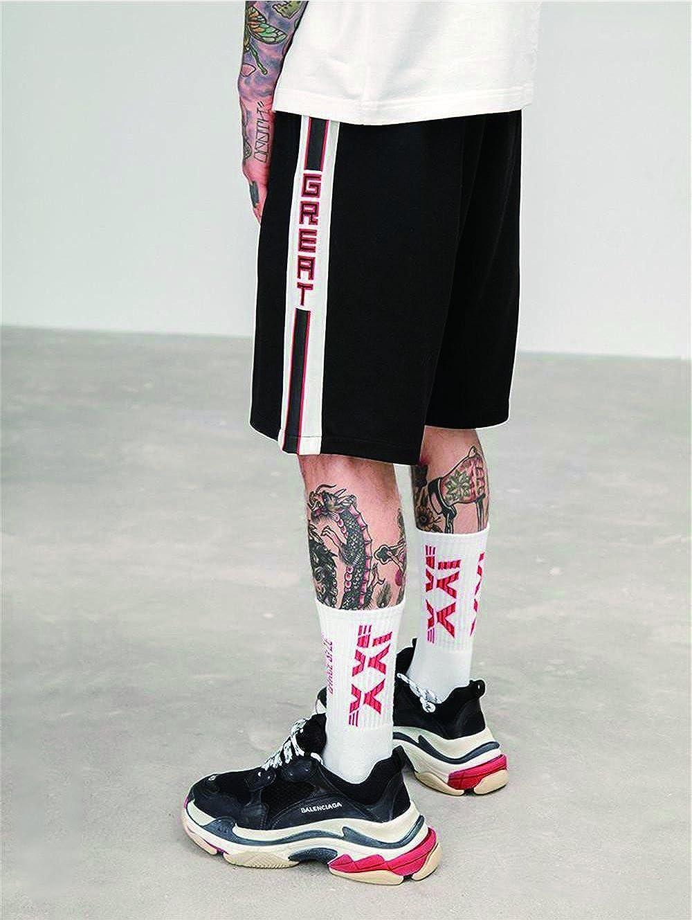 SAINDERMIRA 2018 Skateboard Play Pants Striped Casual Short