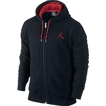 Nike Jordan All-Around - Sudadera con capucha y cremallera para hombre negro negro/rojo Talla:small: Amazon.es: Deportes y aire libre