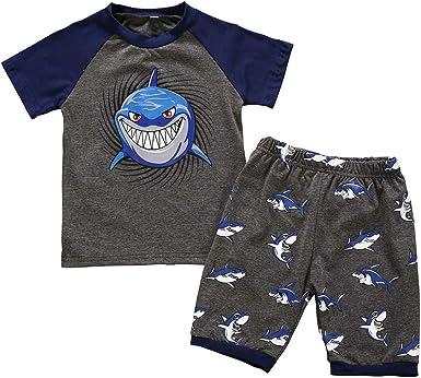 Chándal de verano para niños de 0 a 2 años, con diseño de tiburón ...