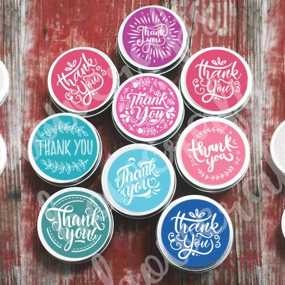 Thank You Stickers Roll Of 1000 Thank You Stickers 1000 For Bubble Mailers Bags 1 5 Inch Thank You Sticker Roll Boutique Supplies For Business Packaging 8 Designs