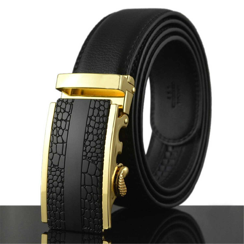 Meetloveyou Business Belts For Men Ceinture Luxury Belt Buckle Wide Belt Fashion Jeans Men Pants Strap 130cm Q170 0349 125cm