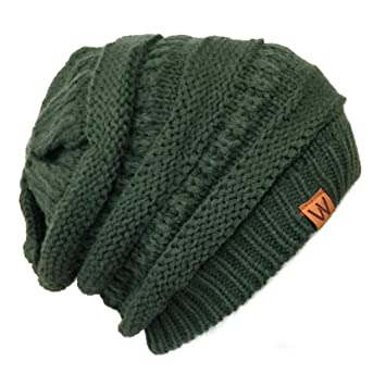 Amazon.com  Knitted Slouchy Beanie Beret 38877c98473